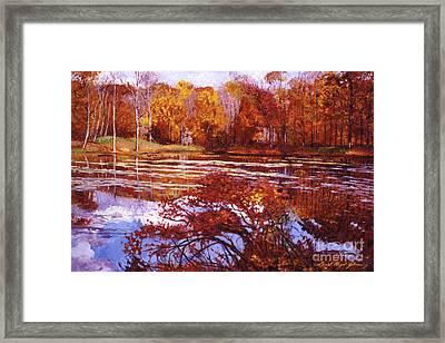 Scarlet Maples Framed Print