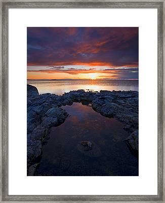 Scarlet Pools Framed Print by Mike  Dawson