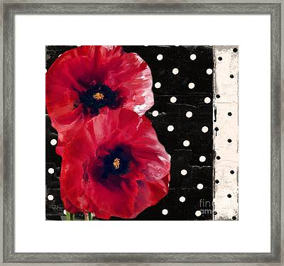 Scarlet Poppies II Framed Print
