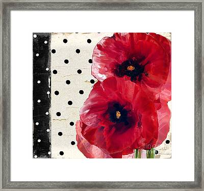 Scarlet Poppies Framed Print by Mindy Sommers