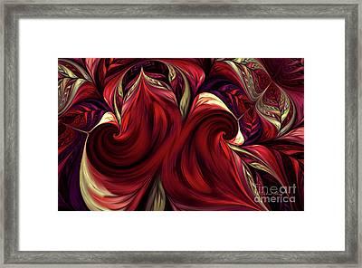Framed Print featuring the digital art Scarlet Red by Deborah Benoit