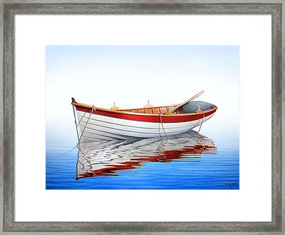 Scarlet Reflections Framed Print
