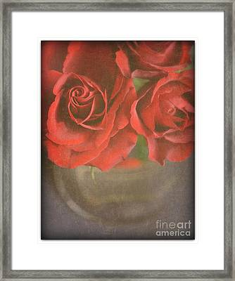 Framed Print featuring the photograph Scarlet Roses by Lyn Randle