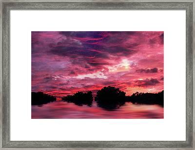 Scarlet Skies Framed Print by Jessica Jenney
