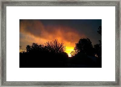 Scarlet Sunrise Framed Print