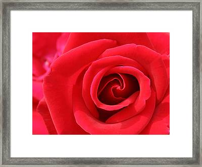 Framed Print featuring the photograph Scarlet Vortex by David Dunham