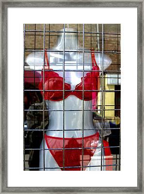 Scarlet Woman Framed Print by Jez C Self