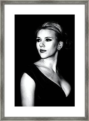 Scarlett Johansson Portrait Framed Print by Best Actors