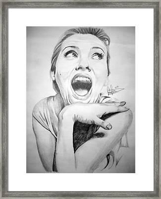 Scarlett Johansson Framed Print by Sean Leonard
