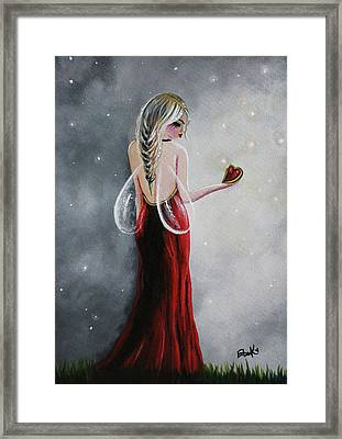 Scarlett - Original Fairy Art Framed Print