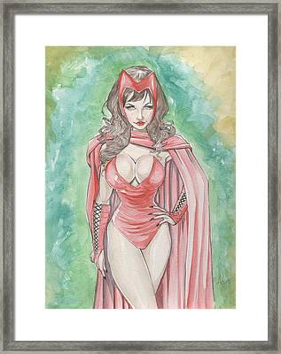 Scarlett Witch Framed Print