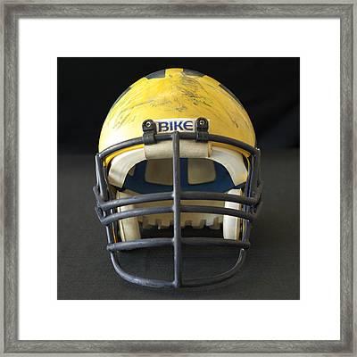 Scarred 1980s Wolverine Helmet Framed Print
