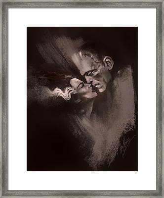 Scarred Lovers Framed Print