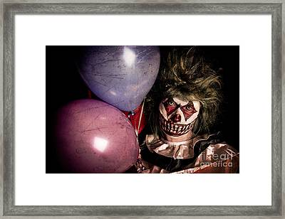 Scary Clown Framed Print by Jt PhotoDesign