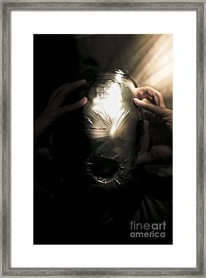 Scary Face Of Terror Framed Print by Jorgo Photography - Wall Art Gallery