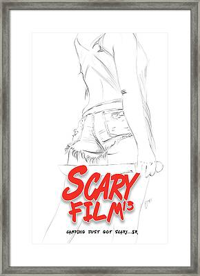 Scary Film 13 Pencils Framed Print
