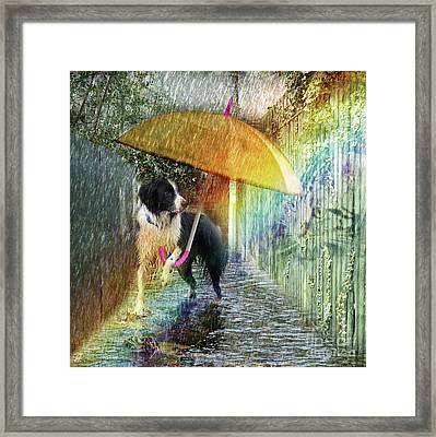 Framed Print featuring the photograph Scary Graffiti by LemonArt Photography