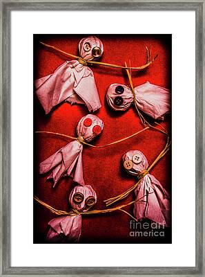 Scary Halloween Lollipop Ghosts Framed Print