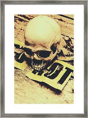 Scary Human Skull Framed Print