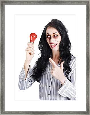 Scary Idea Framed Print