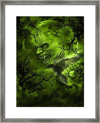 Scary Moon Framed Print