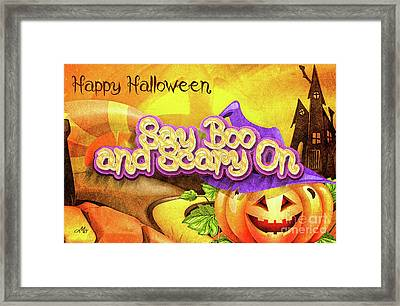 Scary On Framed Print by Mo T