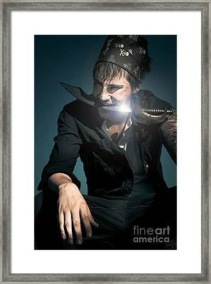 Scary Pirate With Sword Framed Print by Jorgo Photography - Wall Art Gallery