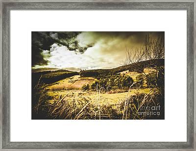 Scary Prairie Framed Print by Jorgo Photography - Wall Art Gallery
