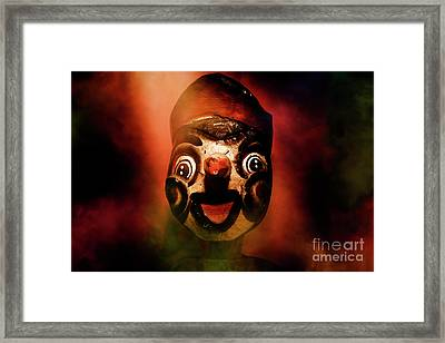 Scary Side Show Puppet Framed Print