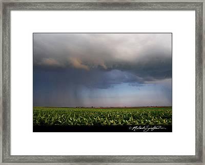 Scary Storm Framed Print by Melinda Swinford