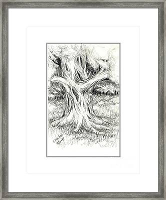 Scary Tree Framed Print by Ruth Renshaw