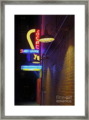Framed Print featuring the photograph Scat Jazz Lounge 2 by Elena Nosyreva