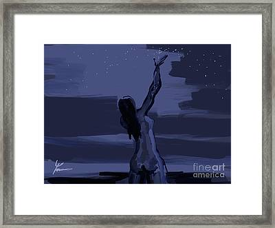 Scatter Light Framed Print by Tarun Cherian