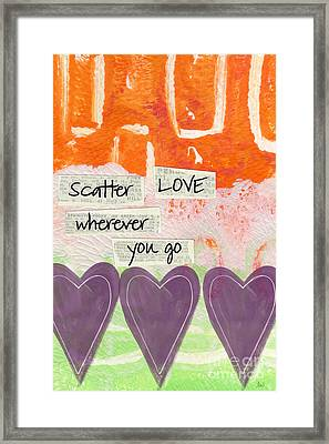 Scatter Love Framed Print by Linda Woods