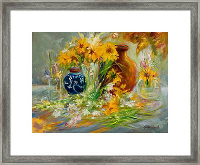 Scattered Beauty Framed Print by Jane Woodward
