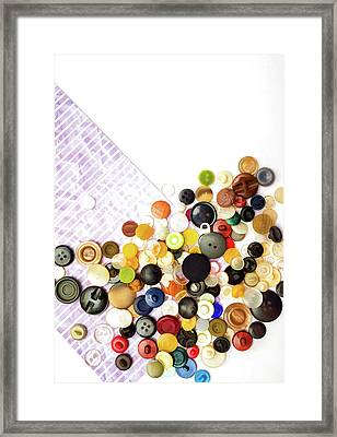 Scattered Buttons Framed Print