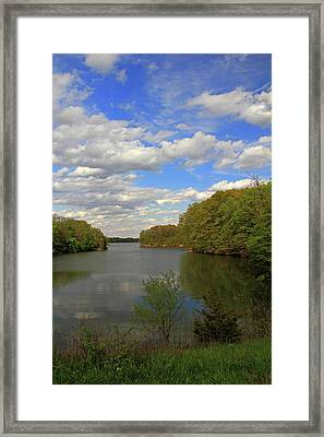Framed Print featuring the photograph Scattered Clouds by Angela Murdock