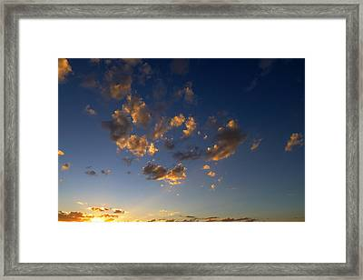Scattered Clouds At Sunset Framed Print