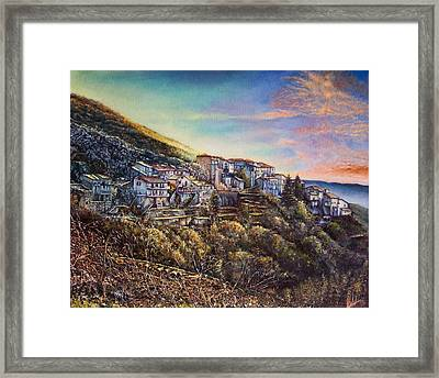 Scattered Clouds Framed Print by Michel Angelo Rossi