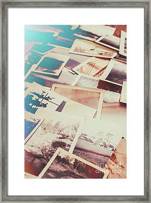 Scattered Collage Of Old Film Photography Framed Print
