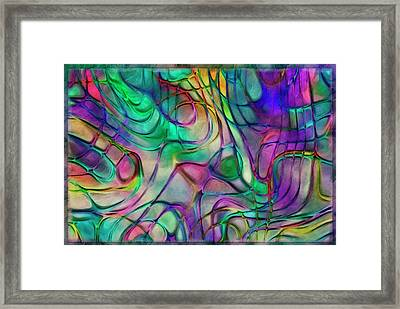 Scattered Rainbow Framed Print by Jack Zulli