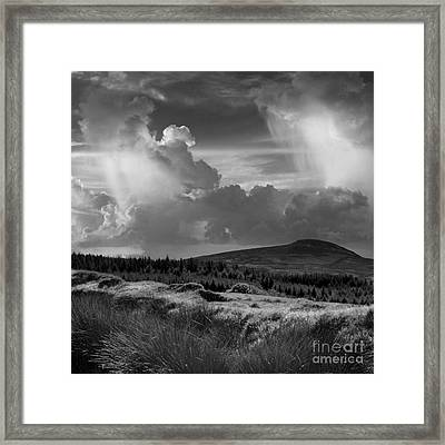Scattering Clouds Over The Cronk Framed Print