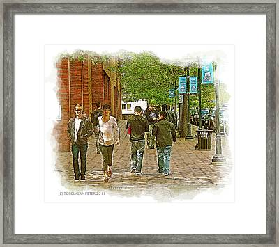 Sccc Capitol Hill Seattle Wa Framed Print by Tobeimean Peter