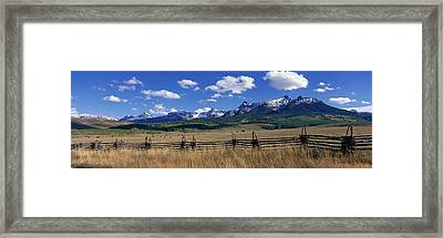 Scene Along Last Doller Road North Framed Print by Panoramic Images