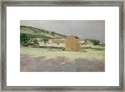 Scene At Giverny, 1890 Framed Print by Theodore Robinson