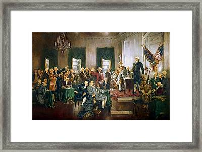 Scene At The Signing Of The Constitution Framed Print