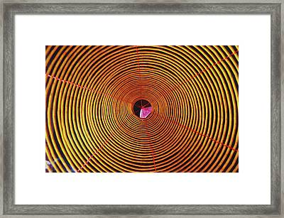 Scene From A Chinese Temple - Spiral Incense Coil Pattern Framed Print