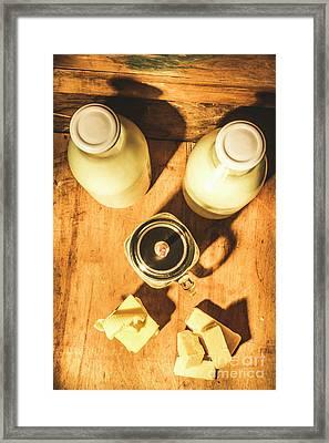 Scene From A Farm Kitchen Framed Print