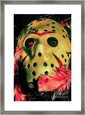 Scene From A Fright Night Slasher Flick Framed Print