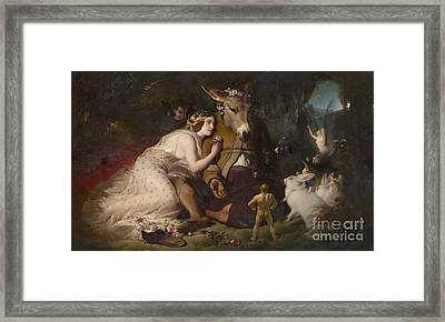 Scene From A Midsummer Night's Dream Framed Print by Celestial Images